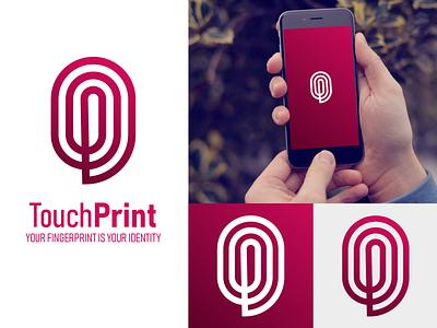 Brand Logo - TouchPrint by Graphistol designer vector logotype logo illustration identité visuelle graphistol graphiste design branding
