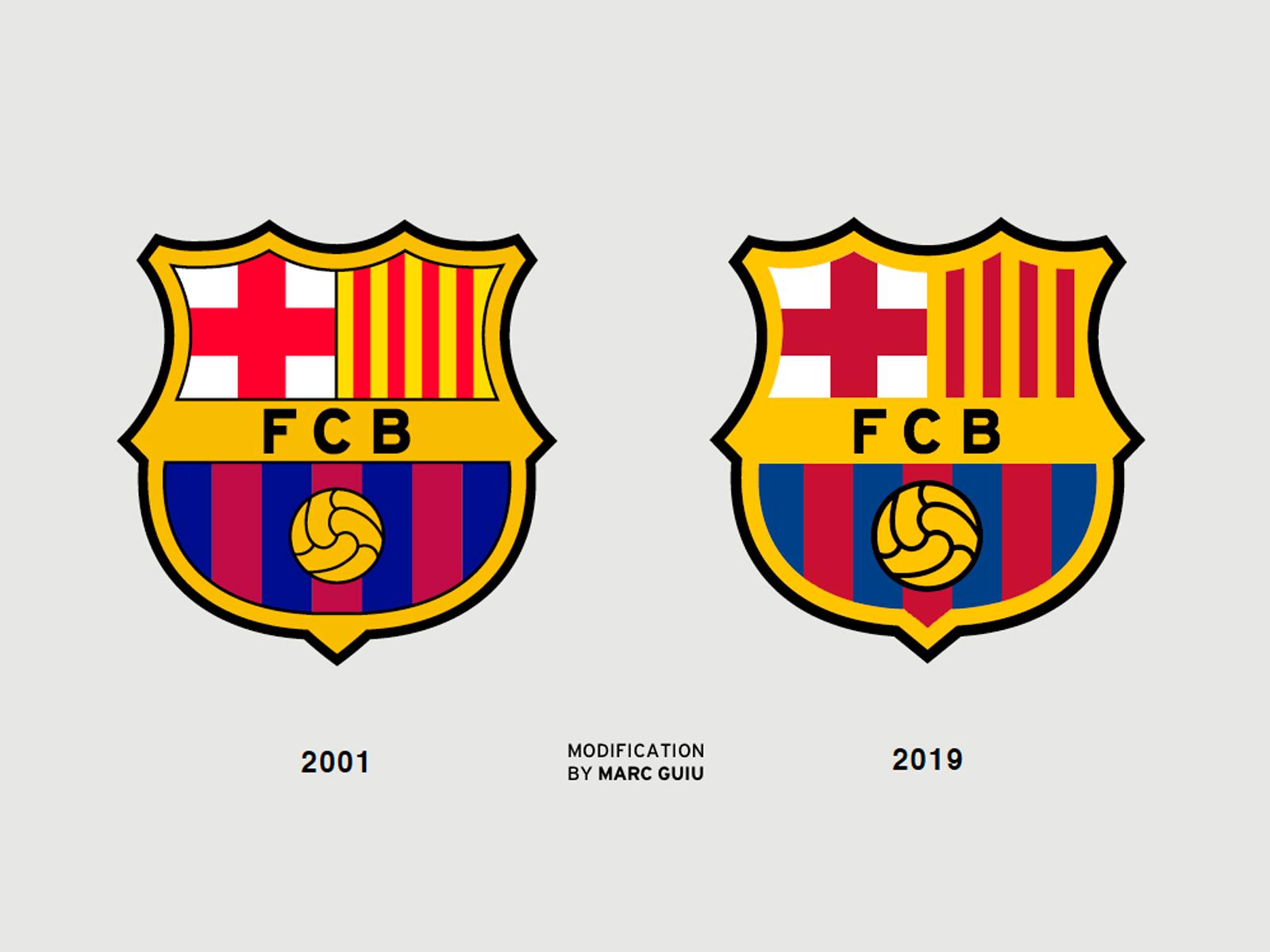 fcb fcbarcelona logo redesign by marc guiu on dribbble fcb fcbarcelona logo redesign by marc