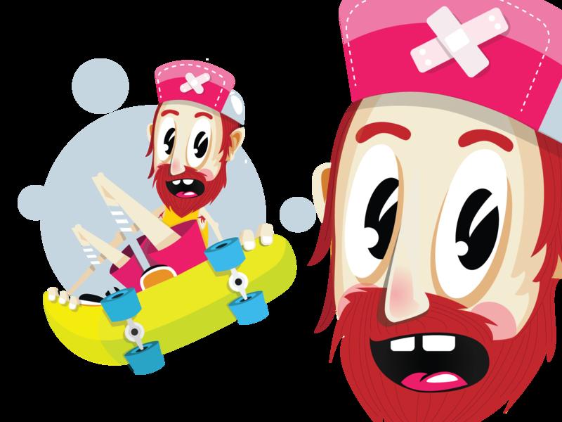 Elrojo flat vector illustration design character
