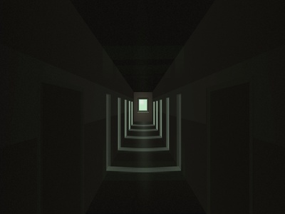Hallway vector practice illustration affinitydesigner