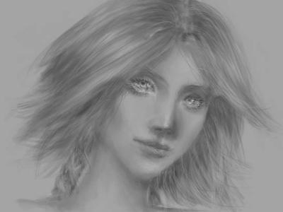 Sabrina's face skech art portrait realistic realism portrait painting portrait illustration portrait art original character original art grayscale comic art photoshop art photoshop digitalpainting digitalart illustration