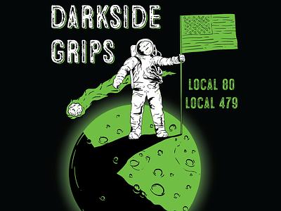 Darkside Grips space astronaut moon graphic design digital illustration vector branding lighting logo digital design illustration