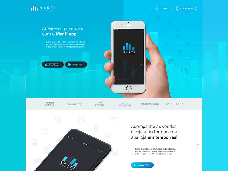 Landing Page | Mynti App page landing