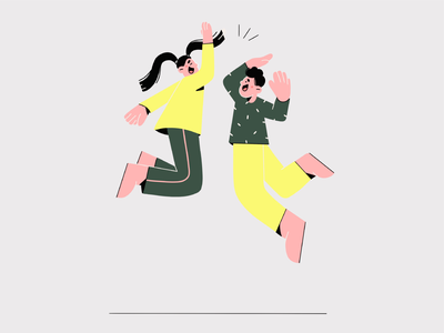 jupi! vector design illustration 2d happy hurra clean vector art girl face minimal flat vector illustration character design character