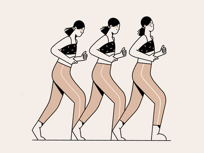 Progress minimal art web illustration proud never give up step by step jogging progress run clean illustration 2d vector art minimal illustration character design character