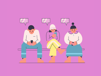conversation shapes sitting people sitting flat illustration messages talk conversation line art social media phone abuse phone people vector illustration minimal art illustration 2d vector art illustration character design character