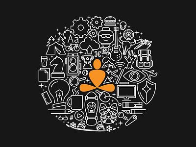 Denver Start Up Week T-Shirt custom icons illustration agency culture start up week denver