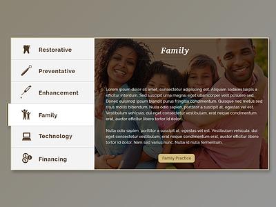 Tab Widget bear visual design tabs tab design website dental ux ui