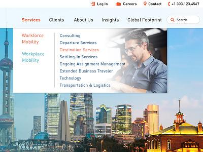 Graebel - Site Launch responsive web development web dev web design relocation site launch
