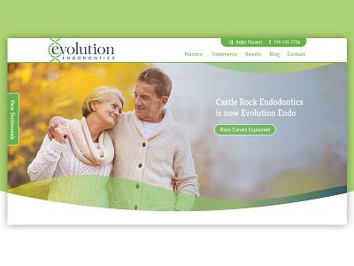 Evolution Endo endodontics endo visual design website evolution masthead hero