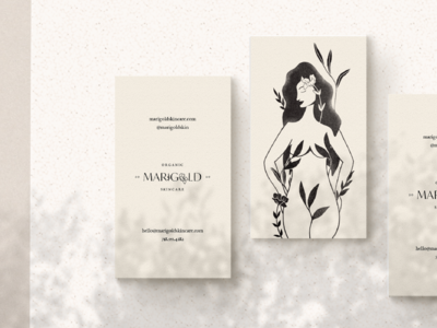 Business Card Design for Organic Skincare Company