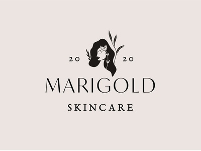 Main Logo Design for an All-Natural Skincare Company for Women. skincare logo nature logo all-natural nature women skin care skincare logotype illustration brand identity logo branding design