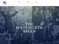 The watergate files   behance 1