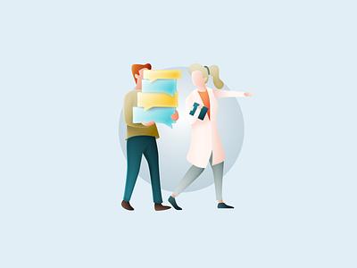 CuraScribe - illustration 3 medical brand design design illustration sketch app gradients
