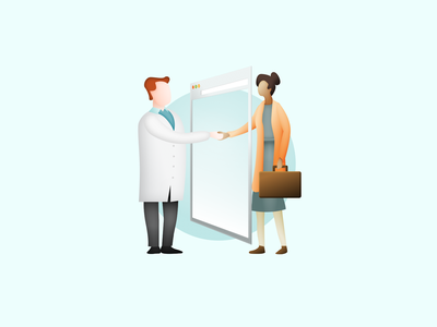CuraScribe - illustration 1 branding and identity medical branding sketch app blue gradients design illustration