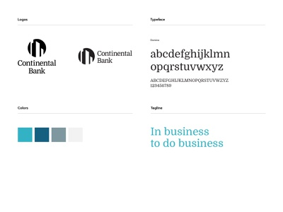 Continental Bank - brand details brand guidelines logodesign logo grid logo financial services brand identity brand banking