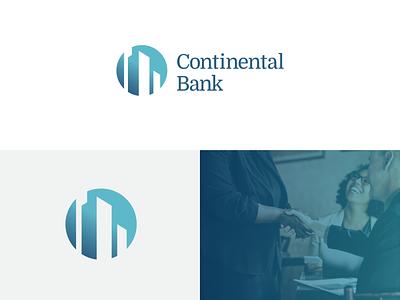 Continental Bank rebranding logodesign logo grid logo financial services brand identity banking