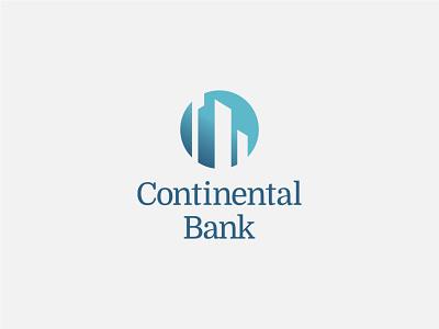 Continental Bank logo logodesign logo grid logo financial services brand identity banking