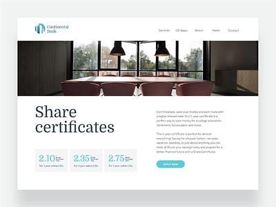 Continental Bank - website ui logo logodesign brand identity brand website design website financial services banking