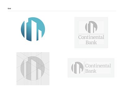 Continental Bank - logo grid financial services banking brand identity logo design branding logodesign logo mark logo grid