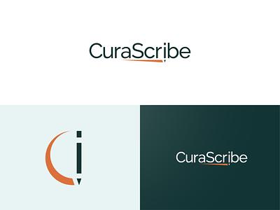 CuraScribe rebranding design medical logo logos medical logodesign logo branding brand identity