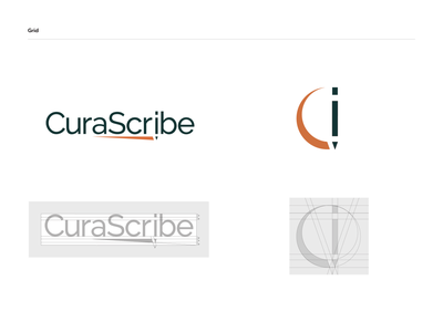 CuraScribe - logo grid grid logo grid medical logo logodesign logo brand identity branding brand identity