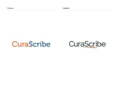CuraScribe - before & after medical logo medical logodesign logo branding brand identity