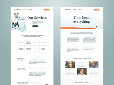 CuraScribe -  support pages gradients medical logo medical logo webdesign website branding design branding