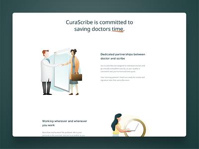 CuraScribe - website illustrations gradients illustration website webdesign brand design brand identity branding design branding