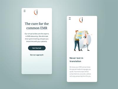 CuraScribe - website mobile medical mobile webdesign website branding and identity branding