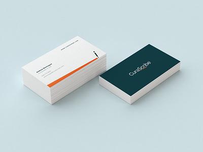 CuraScribe -  business cards logodesign medical brand identity branding logo business cards