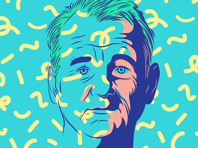 Bill Murray portrait vector colors pattern billmurray murray bill