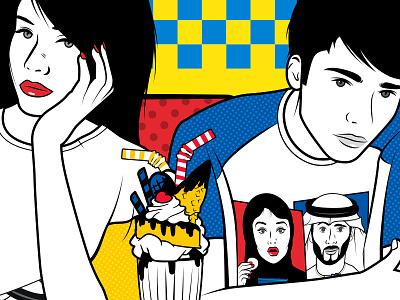Karak Opera diner t-shirt milkshake illustration women men karak