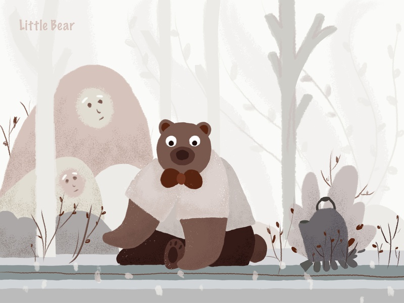 bear design ui illustration 插图