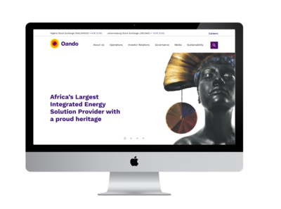 oando Landing Page redesign