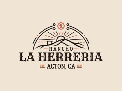 Logo for a Rancho in California logos logomarks farm rancho ranch logodesign logotype vintage logo logo design logo retro illustrator vector vintage graphic design branding illustration