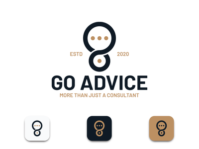 Go Advice - Consulting chat identity brand design logo design adobe clean iconography app icon typography consulting logo flatlogo graphic design logo designer logos logo branding brand identity brand