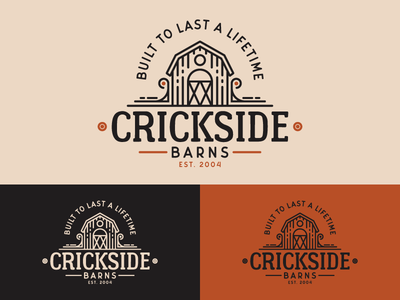 Crickside Barns - Vintage Logo