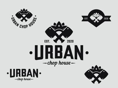 Urban Chop House - Vintage logo branding concept bold meat hipster urban butcher bbq steakhouse chop house brand identity vintage logo logo design logo illustrator illustration design vector graphic design branding