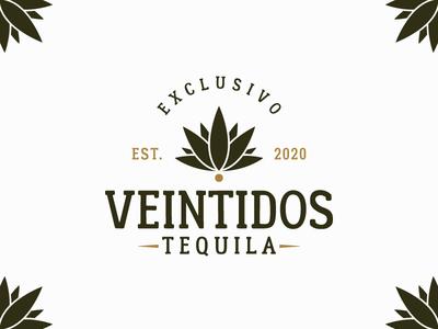 Veintidos Tequila graphic designer brand logos brand identity mexico alcohol liquor branding design tequila agave logo design adobe illustrator illustration vintage graphic design branding