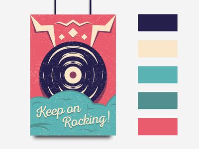 Vintage Vinyl Poster
