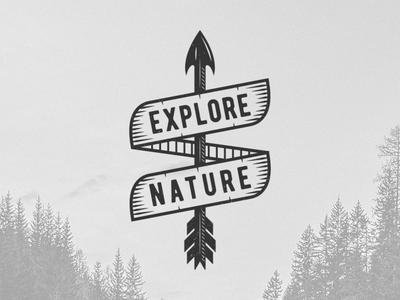 Explore nature  Vintage Badge