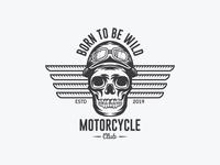 Motorcycle vintage badge