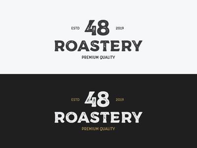 "Logo for a coffee company ""48 roastery"""