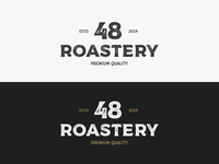 "Logo for a coffee company ""48 roastery"""