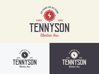 "Vintage logo for ""Tennysons Electric Inc."""