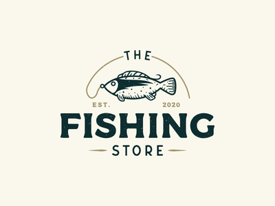 Vintage Logo for a Online Fisihing Store