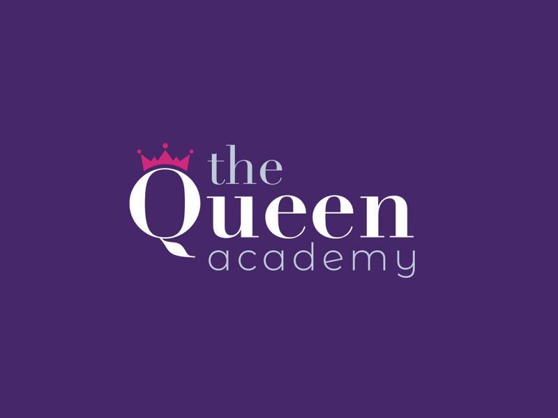 The Queen Academy logo branding logo design