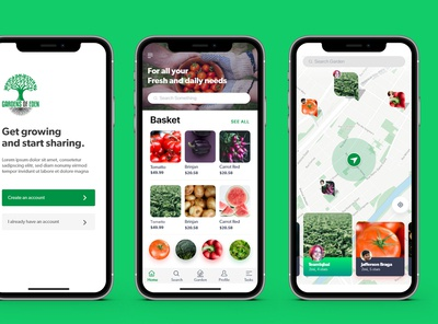 ui ux design mobile for Gardening