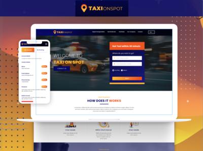 Taxi site UI UX Design   Teamiqbal